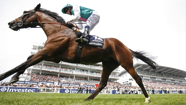Ryan Moore on Workforce takes victory in the Investec Derby