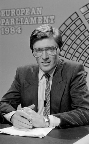 Pat during hte European Parliament election coverage in 1984