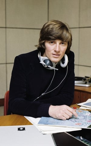 Pat pictured in the radio studios in 1979