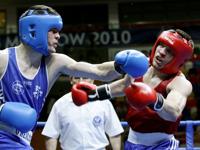 Darren O'Neill has won silver at the European Boxing Championships