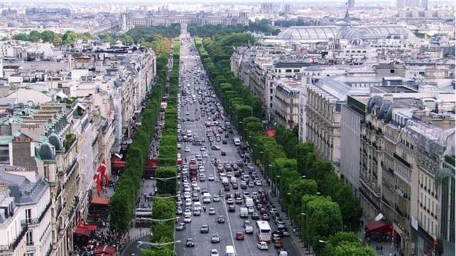 The robbery took place as the motorcade was travelling from a hotel on the Champs Elysees to an airport in Le Bourget