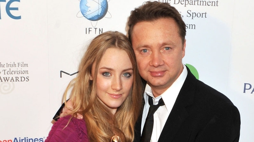 Saoirse and Paul Ronan pictured together at the 2010 IFTAs