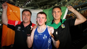 Billy Walsh (right) with newly turned professional Paddy Barnes during his glorious amateur career