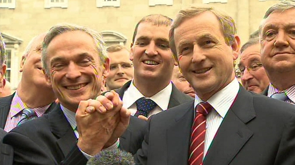 Richard Bruton & Enda Kenny - 'Party can move on united'