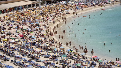 Foreign tourist numbers in Spain rose to an unprecedented 8.3 million in July
