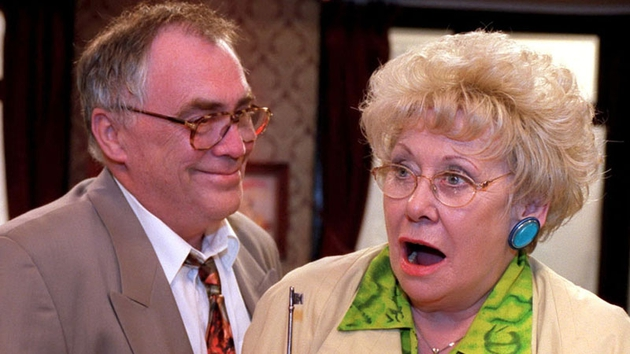Liz Dawn as Vera Duckworth with the late Bill Tarmey who played her husband Jack