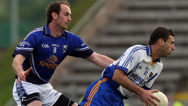 Tony Hannon (right) has played his last game for Wicklow