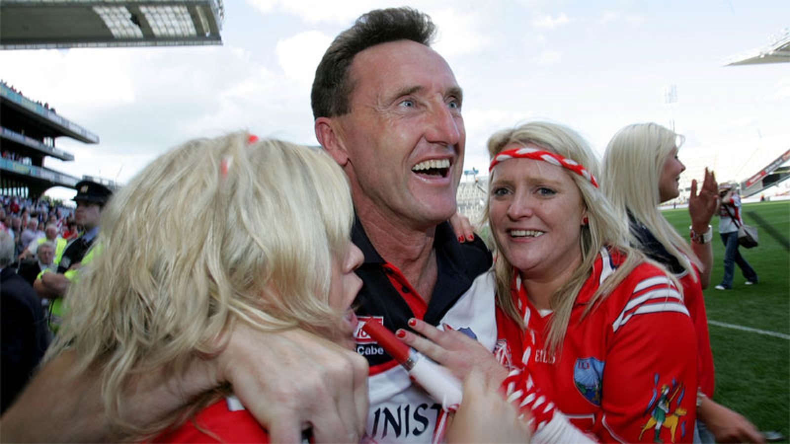 Image - Louth manager Peter FItzpatrick celebrates
