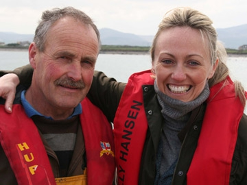 Clodagh McKenna with crab fisherman Timmy Hennessy
