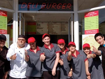 Take on the Takeaway: Francesco Macari and staff.