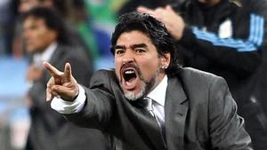 Diego Maradona has hit out at Louis van Gaal over his treatment of Radamel Falcao