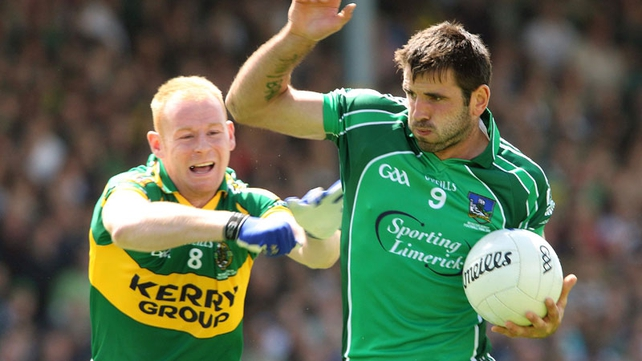 John Galvin in action against Kerry in the 2010 Munster final