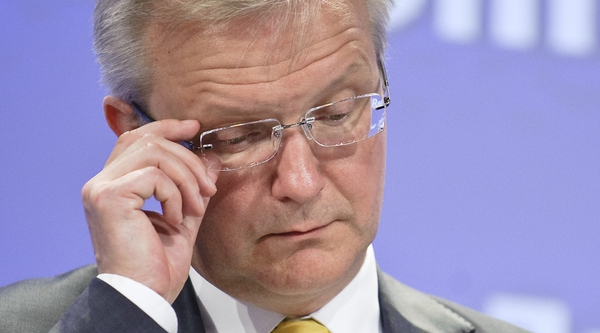 Olli Rehn says savings from promissory note deal should not be used to soften budget