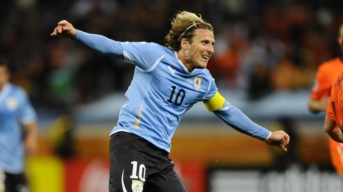 Diego Forlan has been starting in Suarez's absence