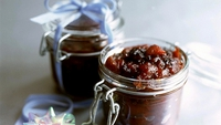 Chutney - While the chutney is still hot, bottle it in warm, sterilised jars.