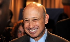Goldman Sachs CEO Lloyd Blankfein saw his first salary decrease in four years last year