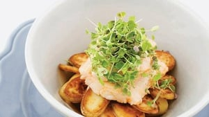 Fresh Haddock Braised in Cider with Potato, Rocket and Cress