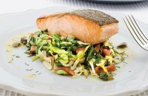 Simple salmon with a real wow factor. Martin Shanahan's Oven-baked Salmon recipe.