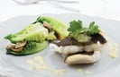 Fresh Lemon Sole in a Panko Crumb With Cajun Potato Wedges, Pea Puree & Tartar Sauce