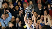 Stephen Molumphy lifts the Munster cup after Waterford's win over Cork in 2010