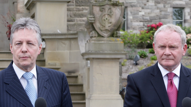 Robinson & McGuinness - Meeting at Stormont over abuse in institutions