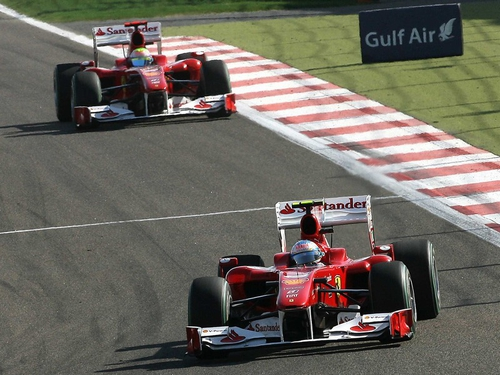 Ferrari finished first and second in Germany