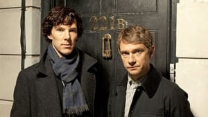 Benedict Cumberbatch and Martin Freeman as Holmes and Watson
