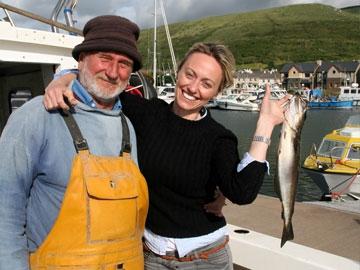 Clodagh McKenna with fisherman Mel Smith