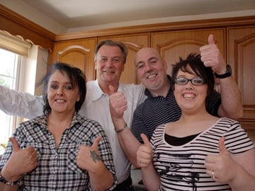 Take on the Takeaway: Michelle, Paul and Trudy McGilligle with Derry Clarke