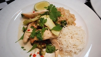 Thai Sweet Chilli Chicken - Serve with cooked basmati rice.