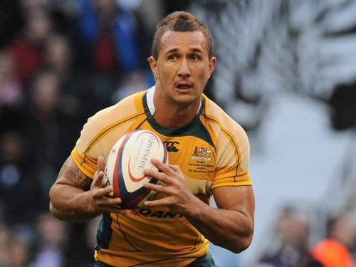 Quade Cooper will miss the next two matches against the All-Blacks