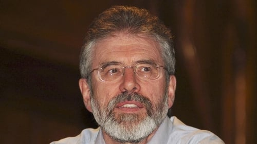 Gerry Adams - To run for election in Louth