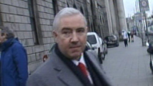 Counsel for Ulster Bank said Sean Dunne is in the US on a temporary business visa