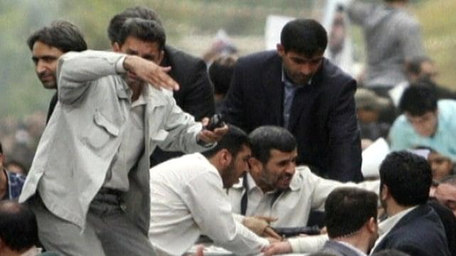 Hamadan - Reported attack on Mahmoud Ahmadinejad