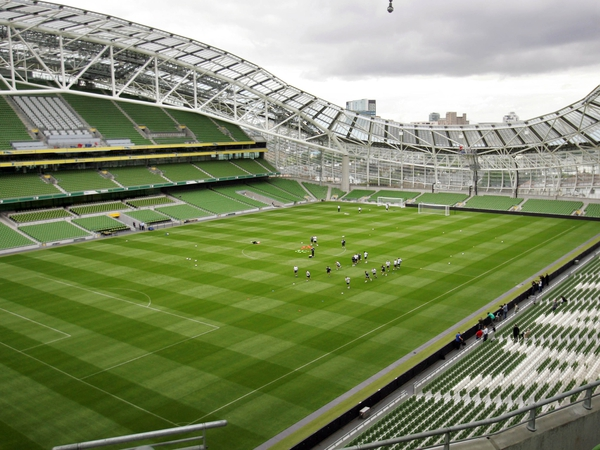 The first international football match takes place at the Aviva this evening as Ireland entertain Argentina