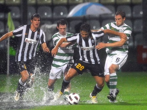 The conditions were difficult for both sides in a wet Modena
