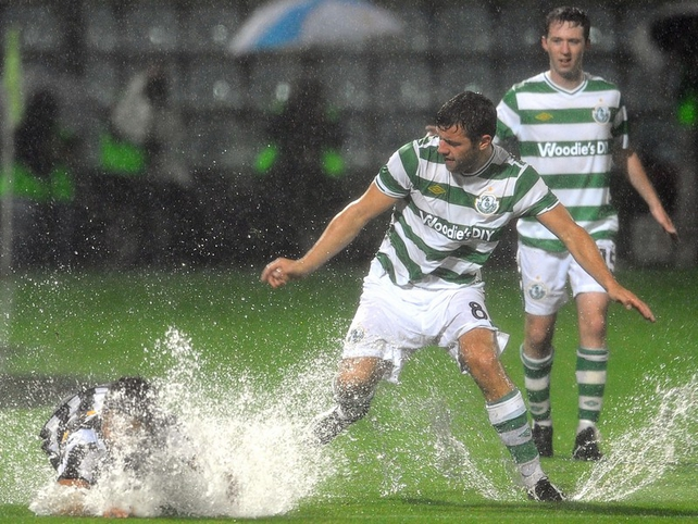 James Chambers battles the water and the submerged Diego