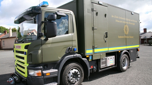 An Army Explosive Ordnance Disposal team dealt with the explosives at Smithstown Industrial Estate