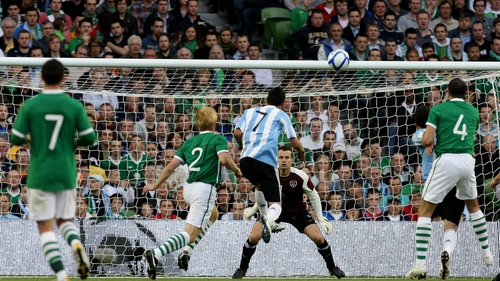Angel Di Maria flicks in the winning goal for the visitors