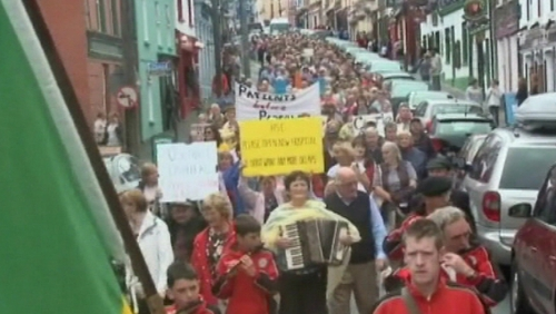 Roscommon - Protest through town