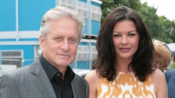 Douglas, Zeta Jones - Michael and wife Catherine