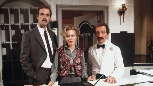 John Cleese, Connie Booth and the late Andrew Sachs in Fawlty Towers