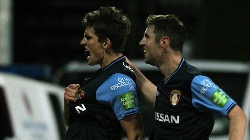 Dave McAllister (left) and Derek Doyle were among the scorers for Pat's