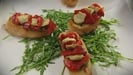 Artichoke and Red Pepper Bruschetta