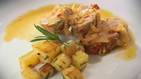 Pork with Orange Marsala Sauce - Catherine Fulvio serves up with delicious main course.