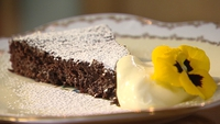 Amaretto and Almond Truffle Torte - Watch Catherine rustle up a delicious cake