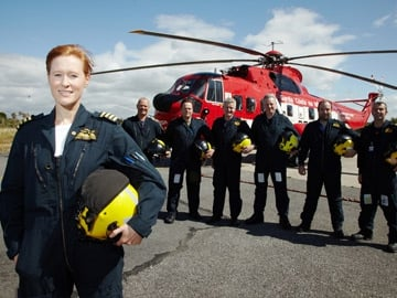 Captain Dara Fitzpatrick and crew