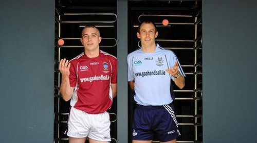 Robbie McCarthy (left) and Eoin Kennedy, once again, go head-to-head in the All-Ireland 60x30 final