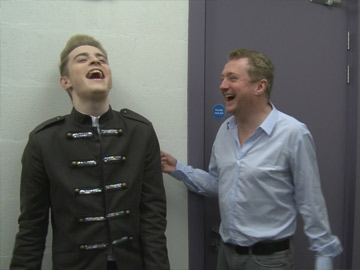 Jedward with Louis Walsh