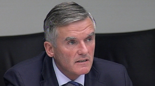 Ivor Callely was arrested at his office in Dublin